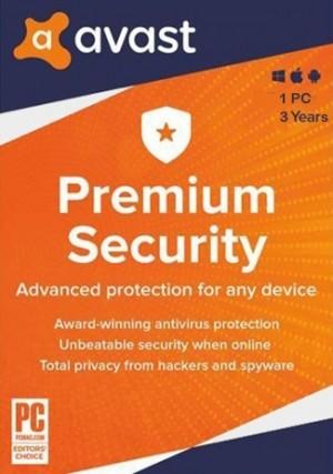Avast Premium Security 1 PC 3 Years