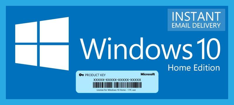 ключ продукта windows 10 home